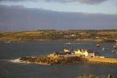 St Mary & x27; s-hamn, öar av Scilly, England royaltyfria bilder
