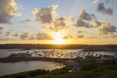St Mary's Harbour, St Mary's, Isles of Scilly, England Stock Photography