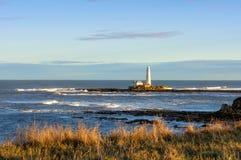 St- Mary` s Insel und Leuchtturm Lizenzfreie Stockfotos