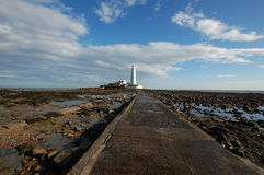 St Mary's Island Lighthouse Royalty Free Stock Photography