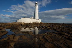 St Mary's Island Lighthouse Stock Image