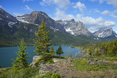 St. Mary's Lake in Glacier National Park Montana Stock Photos