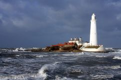 St Mary's Lighhouse Stock Image