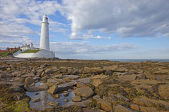 St. Mary's Lighthouse Royalty Free Stock Image
