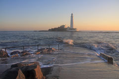 St Mary's Lighthouse Royalty Free Stock Photos