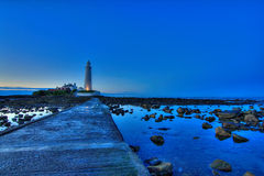 St Mary's Lighthouse and Causeway Stock Photos