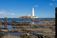 ST Mary`s Lighthouse Royalty Free Stock Photos
