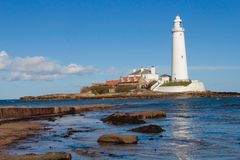 ST Mary`s Lighthouse Royalty Free Stock Image