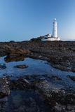 St Mary's Lighthouse Royalty Free Stock Photo
