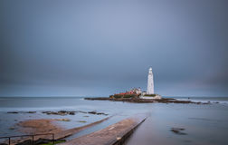 St Mary`s Lighthouse Long Exposure Stock Photos