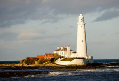St Mary's lighthouse Royalty Free Stock Photography