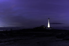St Mary's Lighthouse,. This picture was taken in September 2015. St Mary's lighthouse is located near Whitley Bay, North Tyneside UK Royalty Free Stock Photos