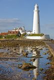 St Mary`s Lighthouse royalty free stock images