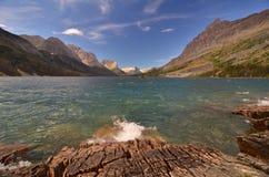 St Mary \ 's Meer, het Park van de Gletsjer, Montana Royalty-vrije Stock Foto's
