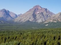 St Mary& x27;s peak. St Mary& x27;s in glacier national park montana Stock Images