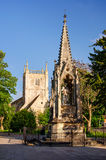 St Mary`s Square with monument and church in Gloucester, Englan Royalty Free Stock Photo