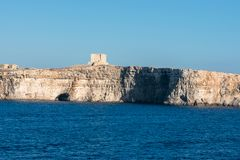 St. Mary s tower, Comino Island royalty free stock images