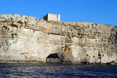 St. Mary's Tower, Comino. St. Mary's Tower or Santa Maria Tower, (Maltese: it-Torri ta' Santa Marija) is a fortification on the island of Comino in the Malta Stock Image