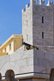 St Mary's Towers.Prince's Palace of Monaco Royalty Free Stock Photography
