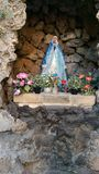 St Mary standbeeld in katholieke kerk - Nicosia Royalty-vrije Stock Afbeeldingen
