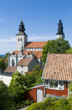 St Mary cathedral medieval Visby Royalty Free Stock Images