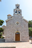 St Mary u. x27; s-Kirche in Budva, Montenegro Stockfotos