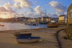St Mary& x27; s schronienie przy świtem, St Mary& x27; s, wyspy Scilly, Anglia Fotografia Stock