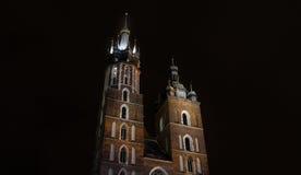 St Mary's Basilica (Kościół Mariacki), Krakow, Poland Stock Image