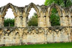 St Mary y x27; abadía de s en la ciudad de York, Inglaterra, Reino Unido Fotografía de archivo