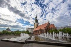 St Maryjny ` s Kościelny Marienkirche w Berlin, Niemcy Zdjęcia Stock