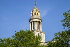 St. Marylebone Parish Church in London. A view of St. Marylebone Parish Church in London royalty free stock image