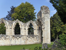 St Marys修道院废墟 免版税库存照片
