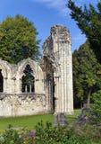 St Marys修道院废墟 库存图片