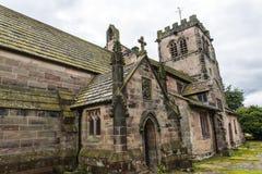 St Marys,下面的Alderley教区教堂在彻斯特 库存图片