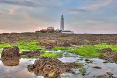 st marys маяка Стоковое фото RF