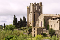 St Marys abby Lagrasse France. St Marys Benedictine Abby in Lagrasse Village south west France Stock Images