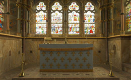 St Marys Altar. The Alter of St Mary's Church at Fountains Abbey in Yorkshire Stock Image