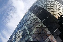St marys axe swiss re building city of london Stock Photo