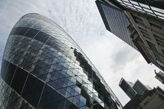 St marys axe swiss re city of london uk Royalty Free Stock Image