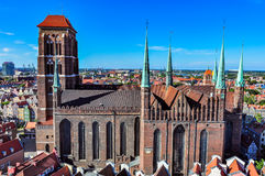 St Mary's Basilica in Gdansk, Poland Royalty Free Stock Photo
