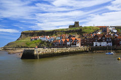 St Marys Church above whitby town Royalty Free Stock Images