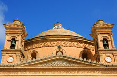 St Marys church in Mosta. Cathedral in the center of Mosta, Malta Royalty Free Stock Photos