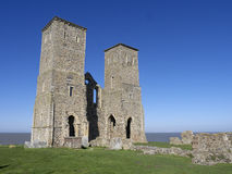 St Marys Church, Reculver, Kent,. March 2014 Royalty Free Stock Image