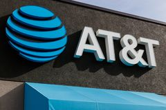 AT&T Retail cell phone and mobility store. AT&T wrapped up its merger with WarnerMedia and now controls HBO and CNN VII stock photos