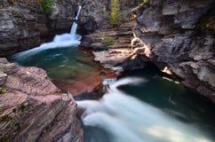 St. Marys Falls, Glacier Park, Montana Stock Photography