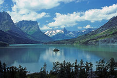 St Marys lake in Glacier NP Royalty Free Stock Photo