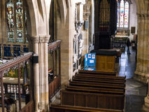 St Marys, Lancaster Priory Church is close by the Castle above the city in England Royalty Free Stock Photo