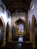 St Marys, Lancaster Priory Church is close by the Castle above the city in England Royalty Free Stock Image