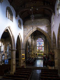 St Marys, Lancaster Priory Church is close by the Castle above the city in England Royalty Free Stock Photos