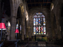 St Marys, Lancaster Priory Church is close by the Castle above the city in England Stock Photos